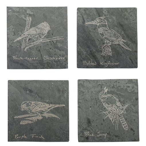 4 Coaster Set - Birds of Vermont