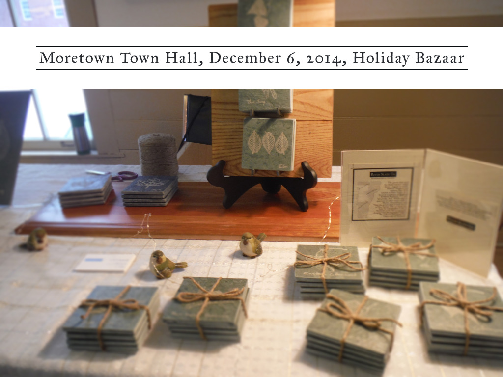 Setting up at craft fair in Moretown, Vt – River Slate Co.
