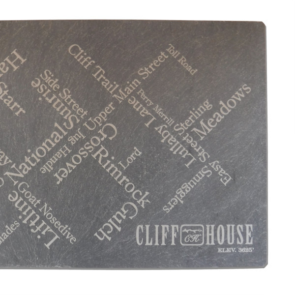 Slate cheese plate for the Cliff House in Stowe, Vermont – River Slate Co.