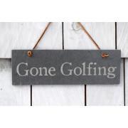 Gone Golf slate sign