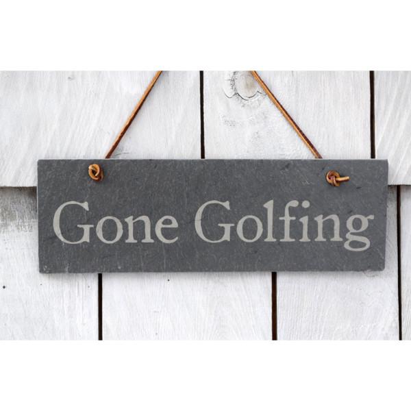 Gone Golf slate sign – River Slate Co.