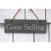 Gone Sailing slate sign