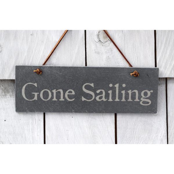 Gone Sailing slate sign – River Slate Co.