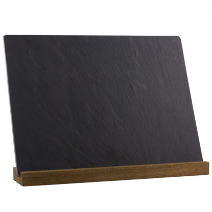 Blank slate cheese plate on stand – River Slate Co.