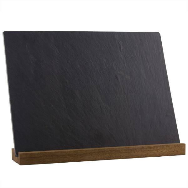 Blank slate cheese plate on stand – River Slate Co.