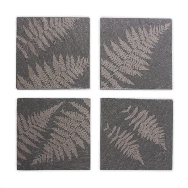 Set of 4 Fern Coasters – River Slate Co.