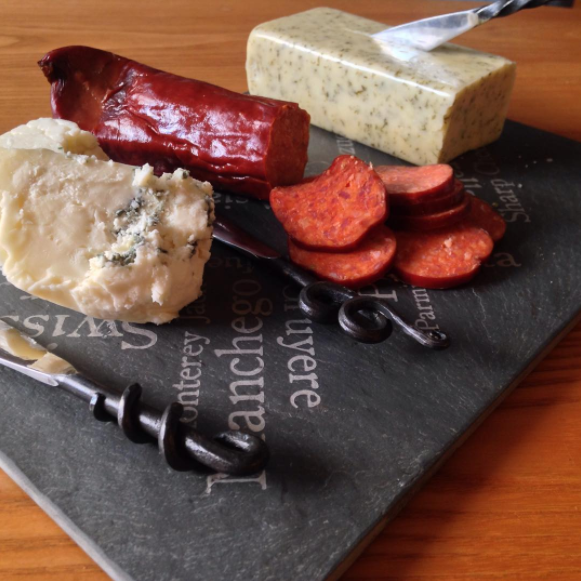 Slate Cheese Plate with engraving – River Slate Co.