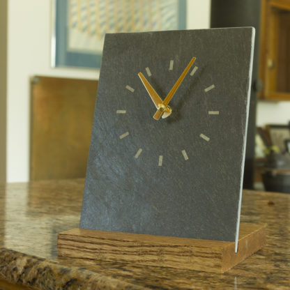 River Slate Co. Simple Clock (green)