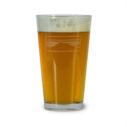 River Slate Co. Pint Glass - Camel's Hump